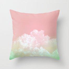 Dreamy Watermelon Sky Throw Pillow
