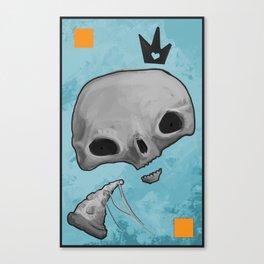 pizza skull king Canvas Print