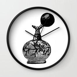 Vintge Perfume Atomizer Wall Clock