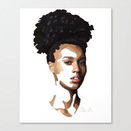 Depth of fluidity Canvas Print