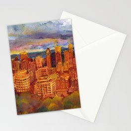 Montreal from Mont Royal during Sunset Stationery Cards