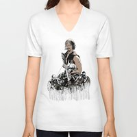 daryl V-neck T-shirts featuring Daryl Dixon by Huebucket