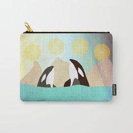 Orcas under the Sun Carry-All Pouch