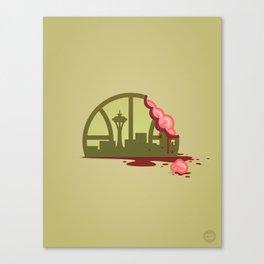 Zombie Sonics Canvas Print
