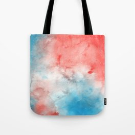 Red & Blue Galaxy Tote Bag