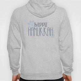 Happy Hanukkah   Snowflakes Hoody
