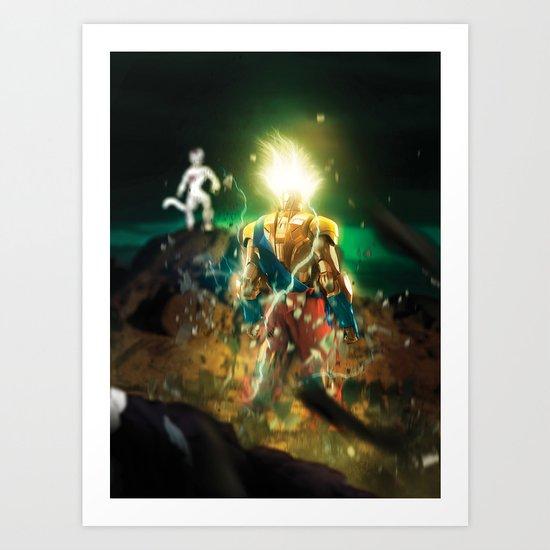IRON MASH // Super Iron Saiyan Art Print