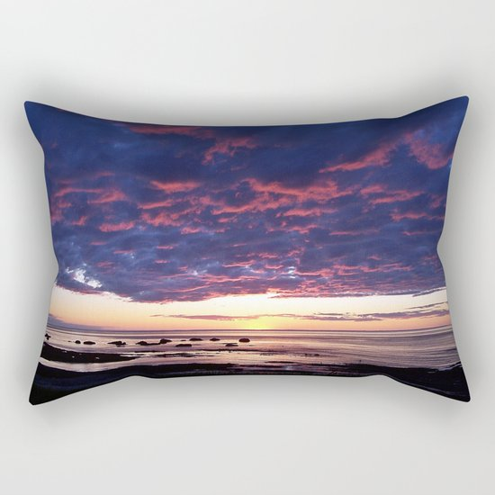Textured Clouds at Sunset Rectangular Pillow