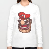mario Long Sleeve T-shirts featuring Mario by Lime