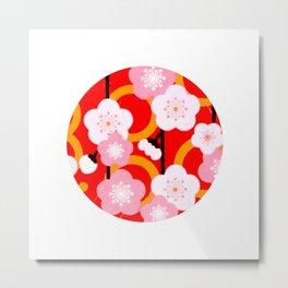 Japanese Circle 2 Cherry Tree Sakura Metal Print