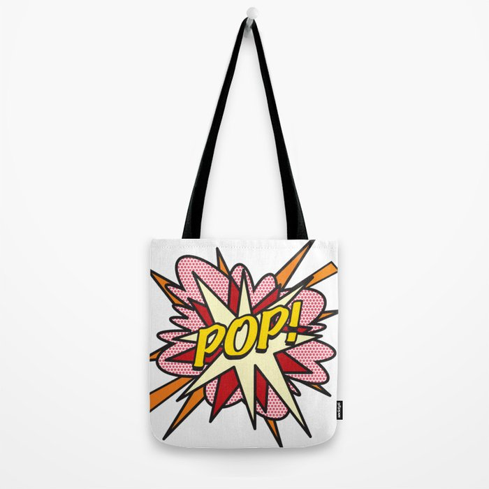 POP Comic Book Flash Pop Art Tote Bag
