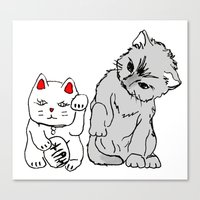 kittens Canvas Prints featuring Kittens by Larice Barbosa