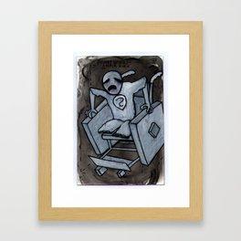 Square Wheel Chair Framed Art Print