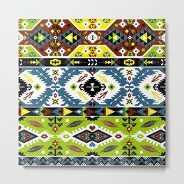Boho Navajo Geometric Var. 9 Metal Print