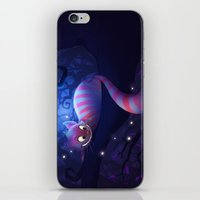 cheshire cat iPhone & iPod Skins featuring Cheshire Cat by Chelsea Kenna