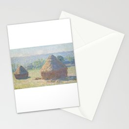 Haystack at the End of Summer Stationery Cards