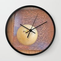 asian Wall Clocks featuring Asian Pear by Lyssia Merrifield