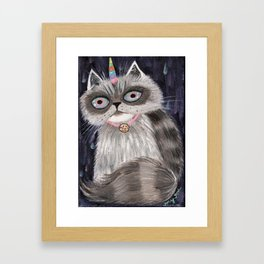 Unicorn Cat Framed Art Print
