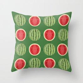 Water Melon Quench Throw Pillow