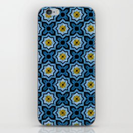 V6 Blue Traditional Moroccan Natural Leather - A4 iPhone Skin