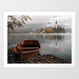 Bucolic landscape Art Print