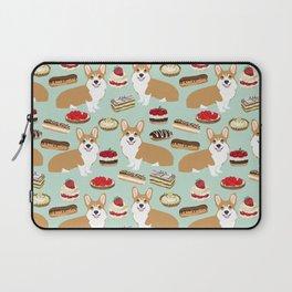 Corgi Patisserie Bakery French Parisian food, tarts, eclair, napoleon, cute food design Laptop Sleeve