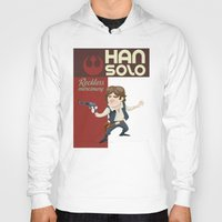 han solo Hoodies featuring Han Solo by Alex Santaló
