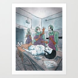 Rigor mortis Art Print