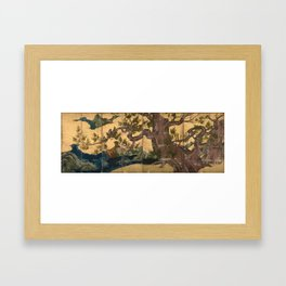 Kano Eitoku Cypress Trees Framed Art Print