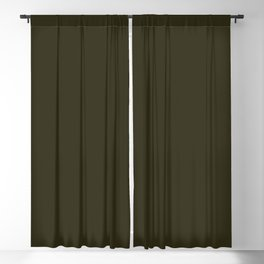 Home Sweet Home ~ Dark Olive Green Blackout Curtain