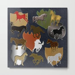 Horsing Around with Heraldry Metal Print