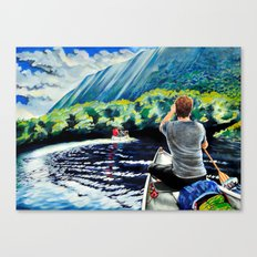 Chris+Canoe+Pilly=YES Canvas Print