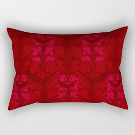 Red Classic Acanthus Leaves Pattern Rectangular Pillow