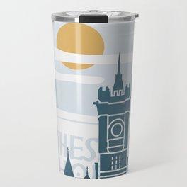 Cardiff vintage poster travel Travel Mug