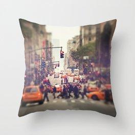 Down the Avenue Throw Pillow