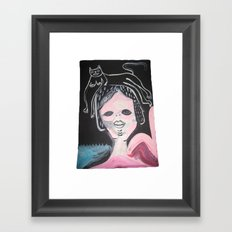 Gato Head Framed Art Print