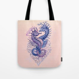 Seahorse tattoo Tote Bag