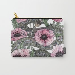 Snake and Poppies Carry-All Pouch