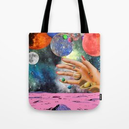 Psychedelic space Tote Bag