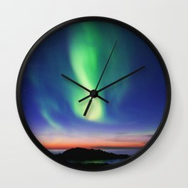 The Northern Lights 01 Wall Clock