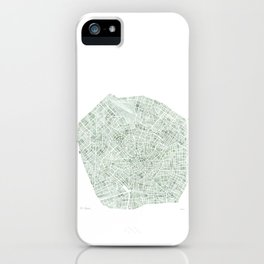 Milan Italy watercolor map iPhone Case