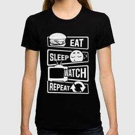 Eat Sleep Watch Repeat - TV Series Couch Binge T-shirt