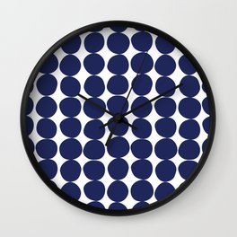 Midcentury Modern Dots Navy Wall Clock