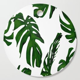 Simply Tropical Palm Leaves in Jungle Green Cutting Board