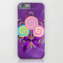 Purple Lollypop Dreams iPhone Case