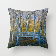Two birches Throw Pillow