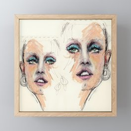 Portrait study. Rough sketch Framed Mini Art Print