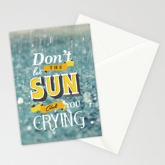 Dont let the sun Stationery Cards