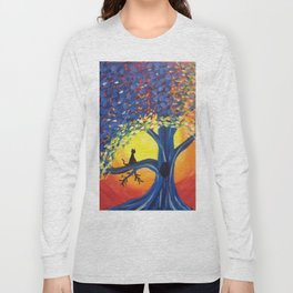 Kitties Love Sunsets Long Sleeve T-shirt