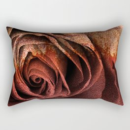 Bleeding Rust Rose Rectangular Pillow